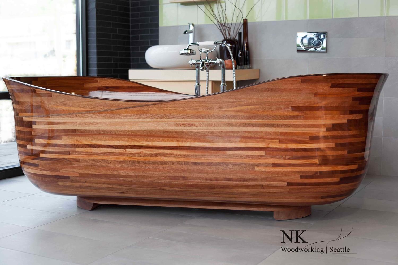 Wood Bathtubs | Wooden Bath Sculpture by NK Woodworking - Seattle ...
