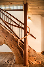 Live Edge Custom Stair Design by NK Woodworking