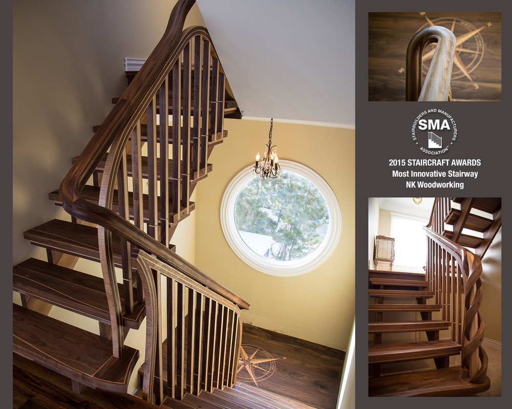 SMA Winner: Most Innovative Design by NK Woodworking - Seashore Stair