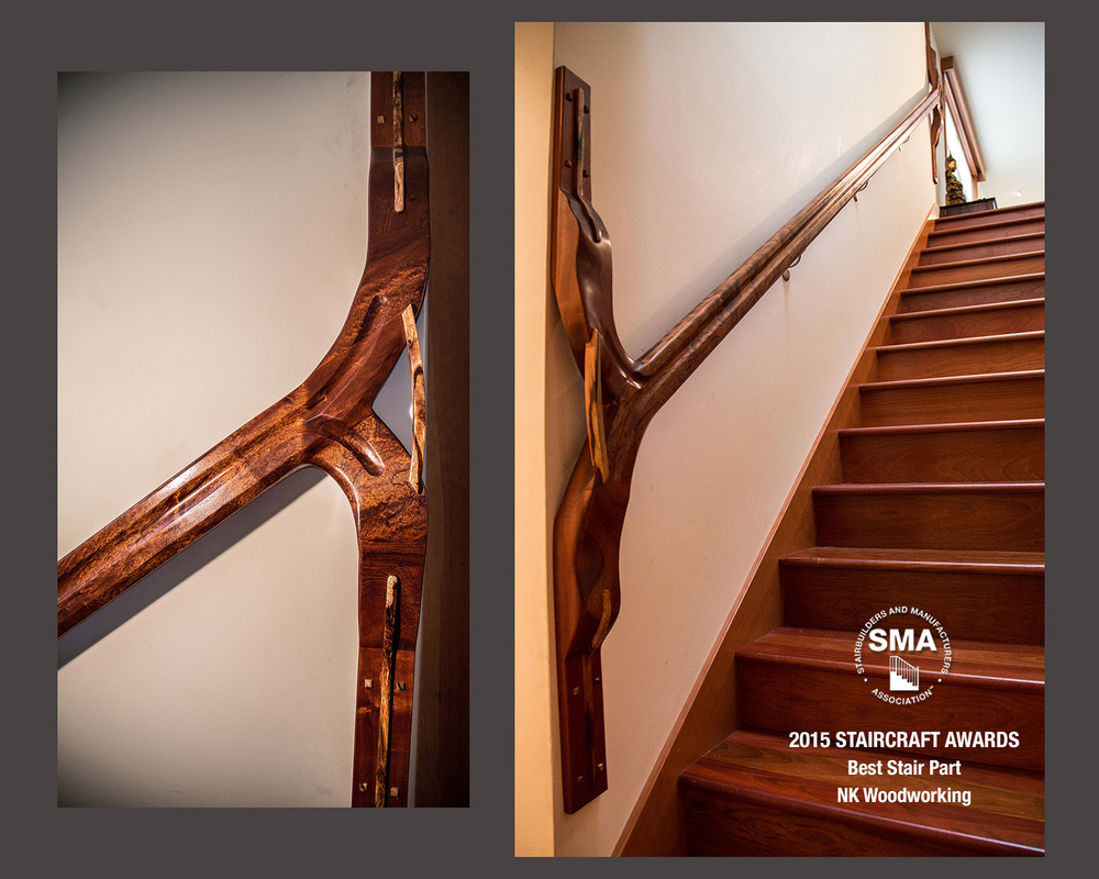 SMA Winner:  NK Woodworking's Best Stair Part - The Sculptural Handrail