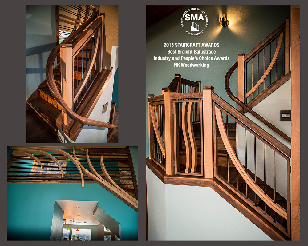SMA Winner: The Spring Sunrise - Winner of Best Straight Balustrade by NK Woodworking - Winning both Industry and People's Choice Awards