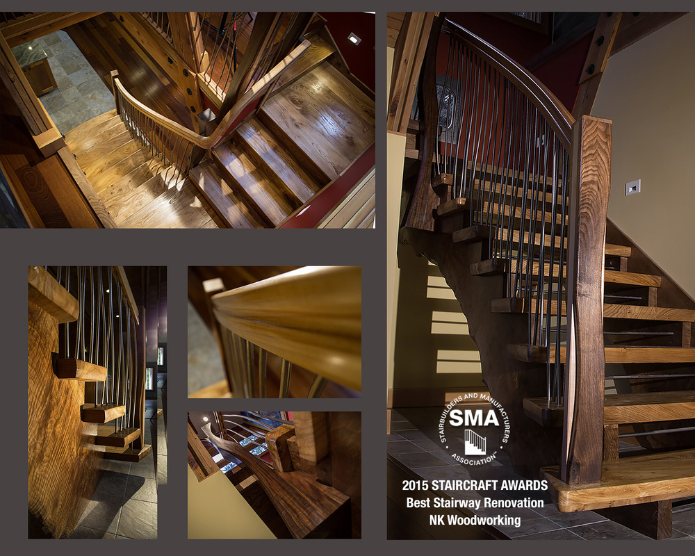 SMA Winner: NK Woodworking's Best Stair Renovation  - In The Reeds