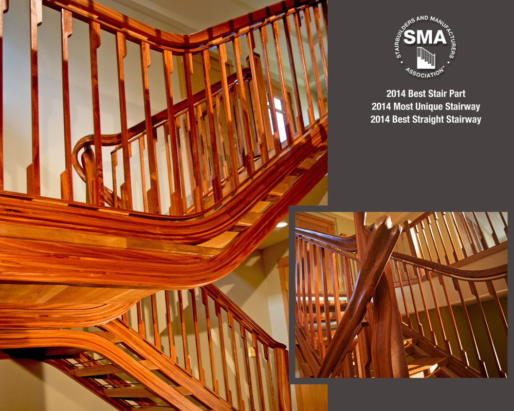 2014 SMA Winner - 3 Categories! - Most Unique Stair - Best Stair Part - Best Straight Stair