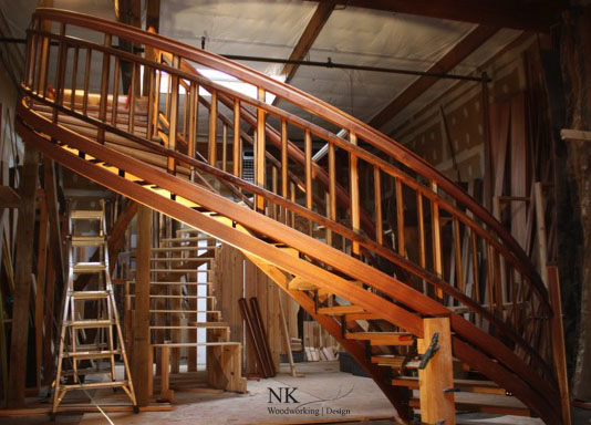 Assembly of Stair in NK Woodworking shop.jpg