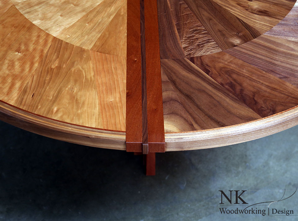 Custom Wood Furniture Reclaimed Table Art Seattle NK - Round wood conference table