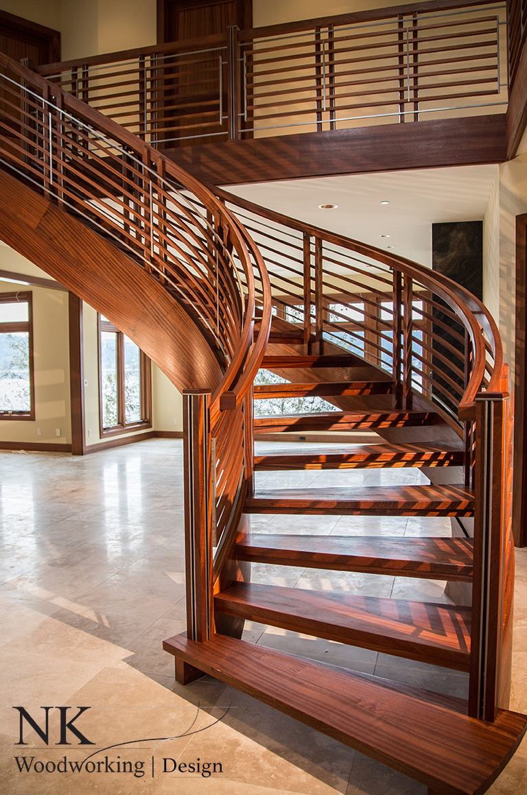 Curved staircase stair gallery nk woodworking design for Arched staircase