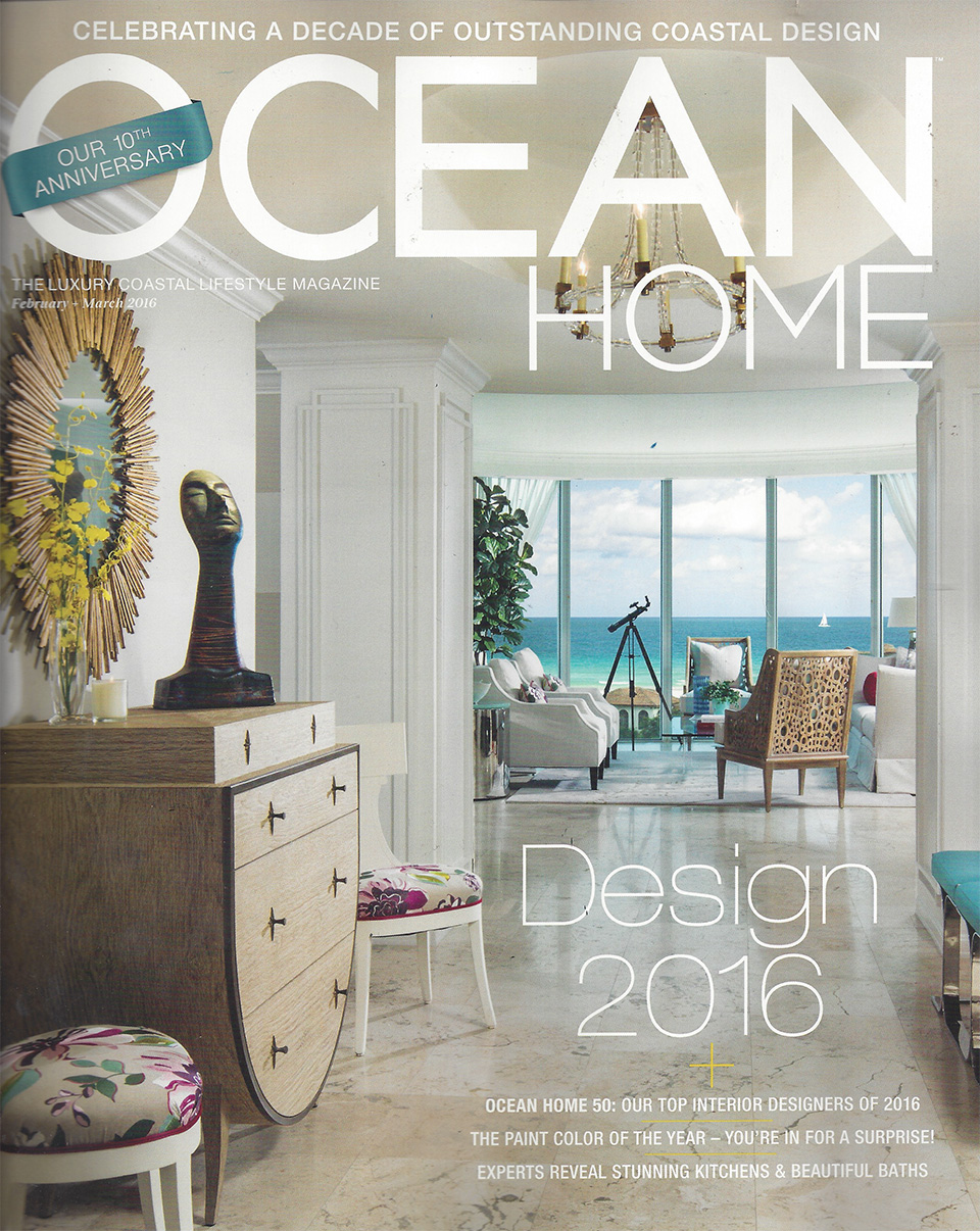 Lotus Bathtub in Ocean Home Magazine!