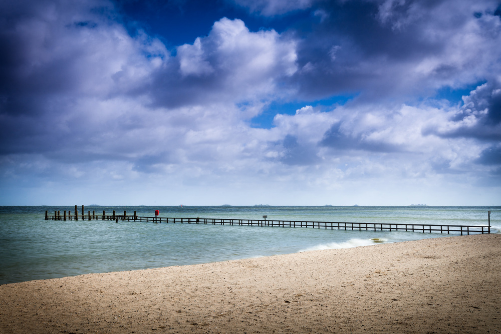 Seebrücke am Strand von Wyk auf Föhr