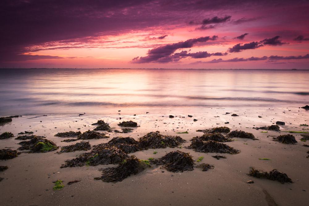 Sonnenaufgang am Hafen von Wyk
