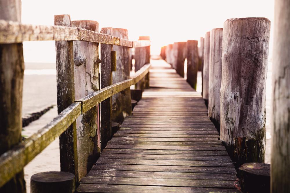 Seebrücke am Strand von Utersum