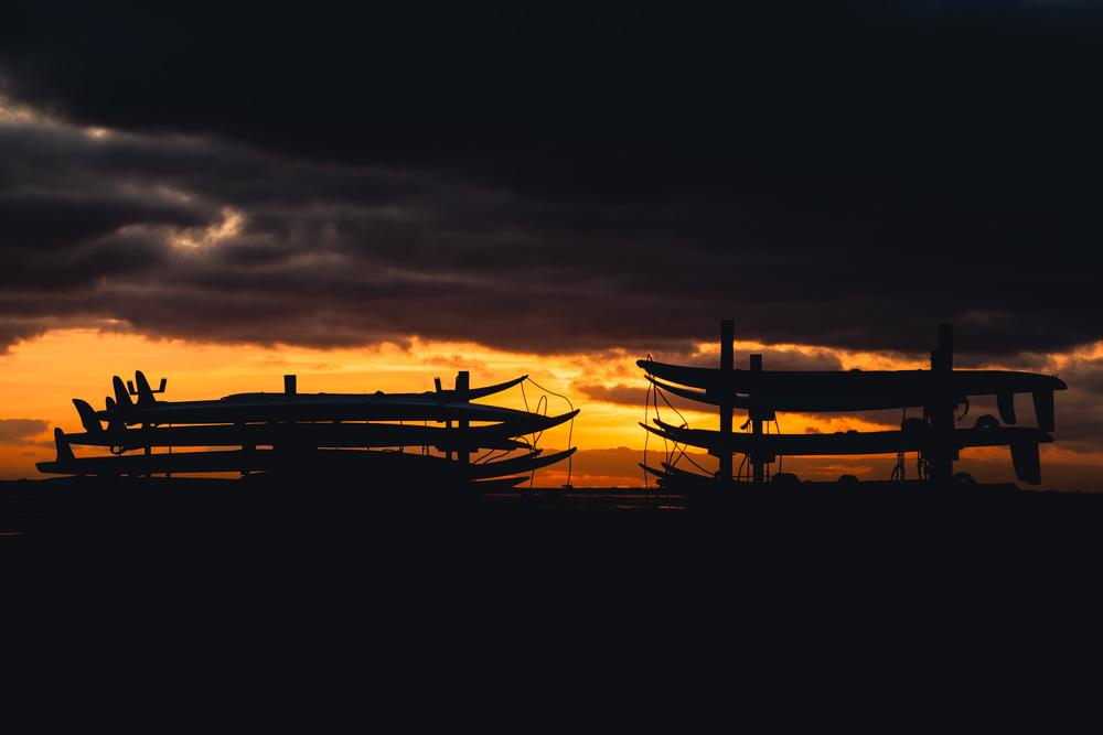 Sonnenuntergang am Surferstrand von Nieblum