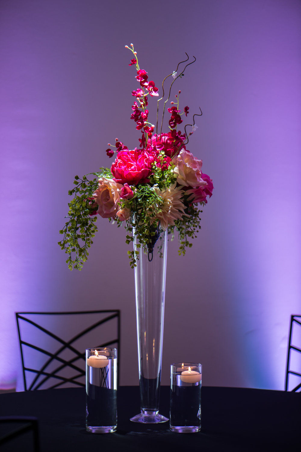 Tall Pink with Greenery floating candles.jpg