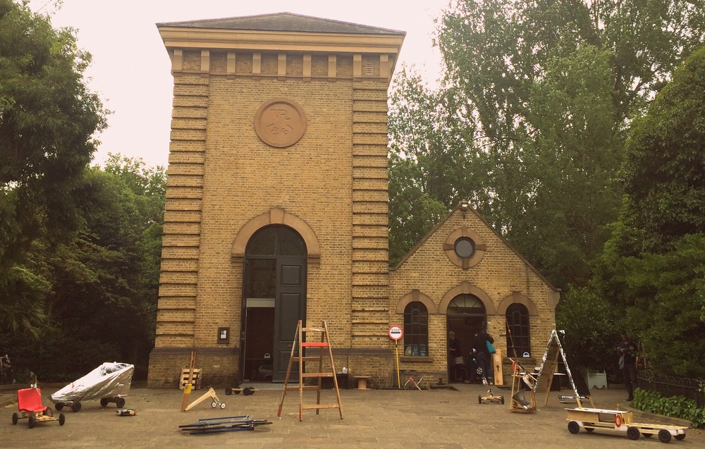 Soapboxes , the drawing shed, Pump House Gallery, June 2015.
