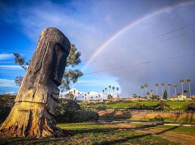 Don't forget to look behind you 🌈 can you name the spot!? 📷: @donaldmiralle - sick shot! ✌🏽 #republicofencinitas #leucadia #encinitas #cardiffbythesea #rainbow