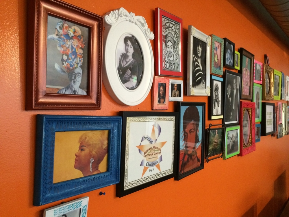 Wall of Inspiration at Bay Area Video Coalition