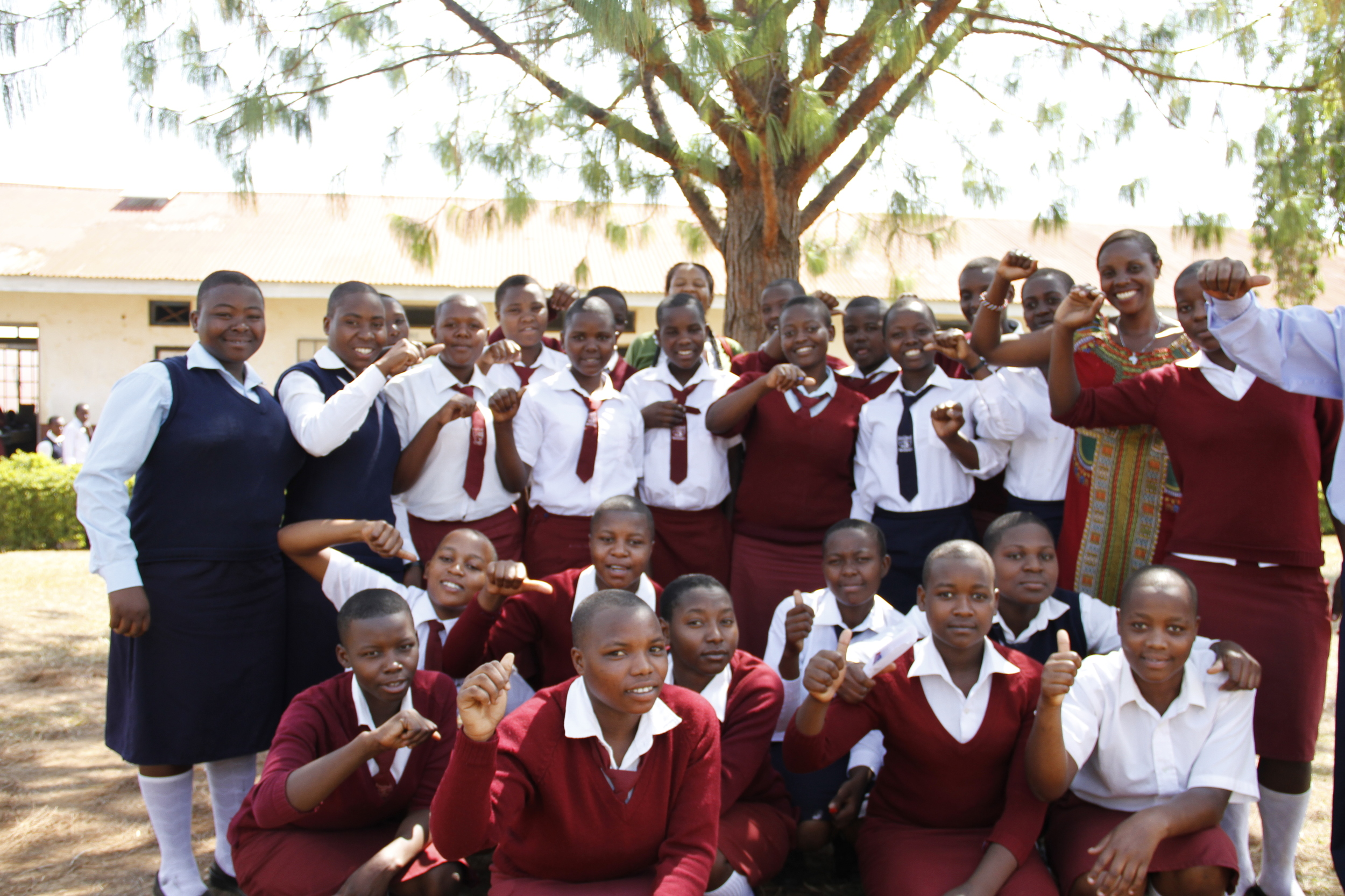 Honest with Girls to Lead Africa Club members at Kiinkiizi High School