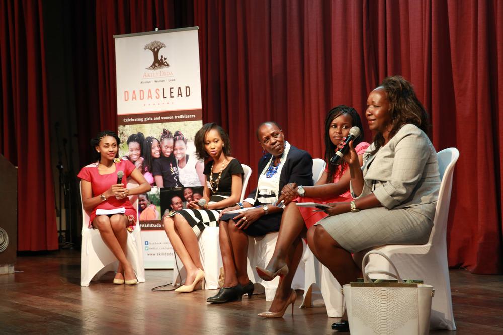 Cross-generational panel: From left to right, Joy Doreen Biira, Sharon Ng'anga, Prof. Elishiba Kimani, Yvonne Maingey and Dr. Juliet Oseko