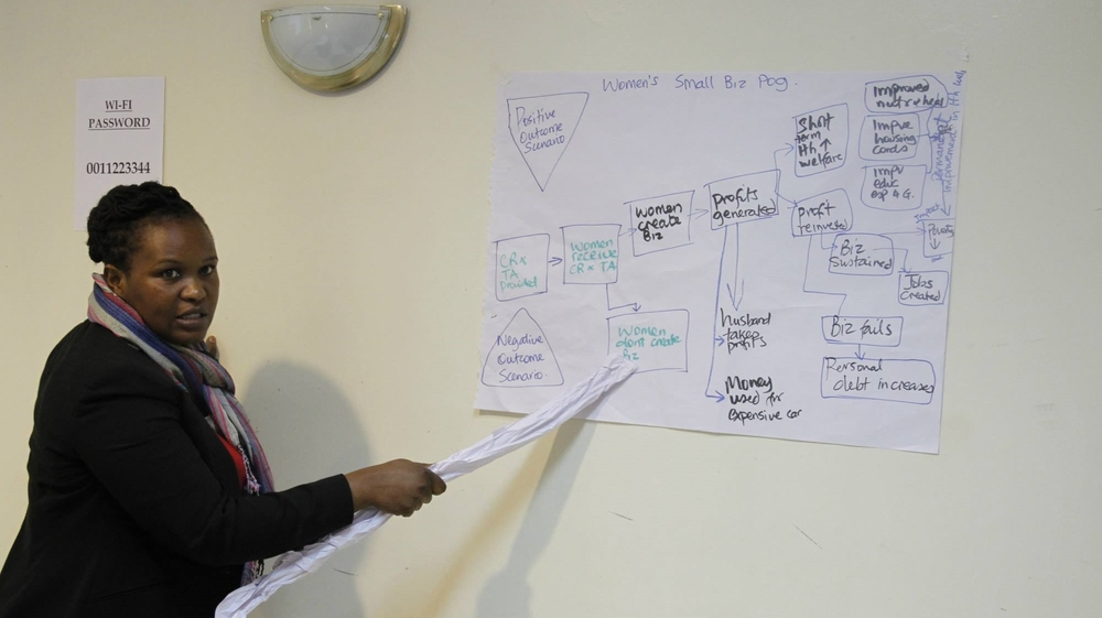 Fellows monitoring and evaluation training.