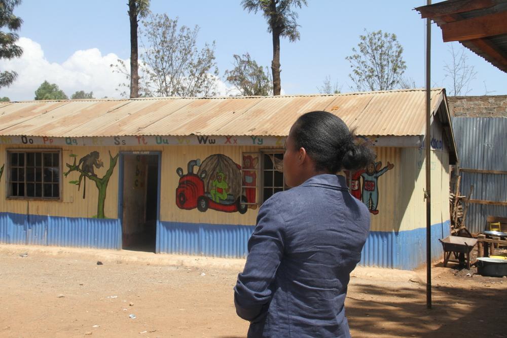 2015 Fellow Veronica at a partner school in Kawangware.