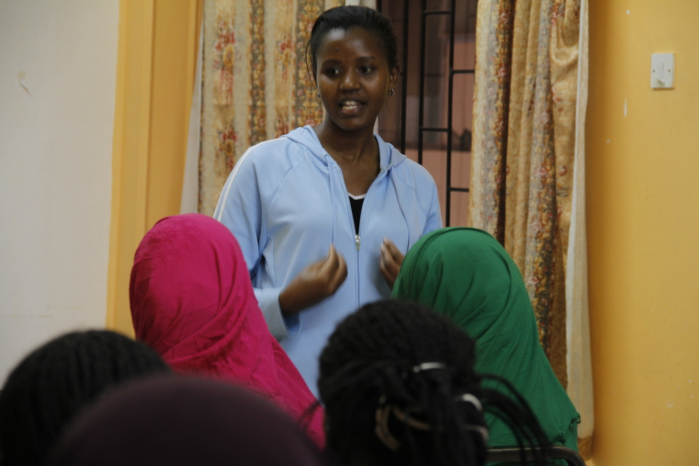 Innovation in Leadership Program Associate Doris opening the Isiolo Dada Dialogues session.