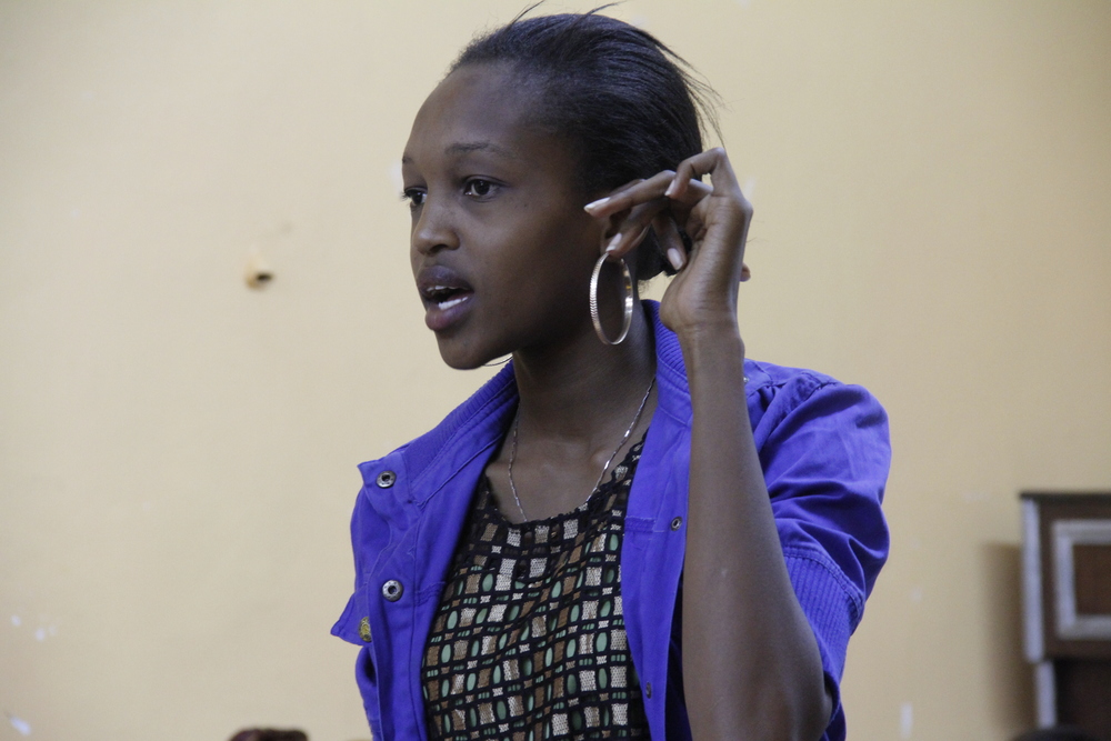 Akili Dada Fellow Antonia sharing her views during the Dada Dialogues session.