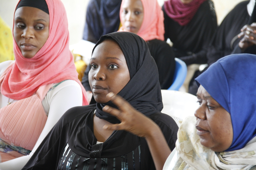 Dada Dialogues participant contributing during the cross-generational session in Kwale.