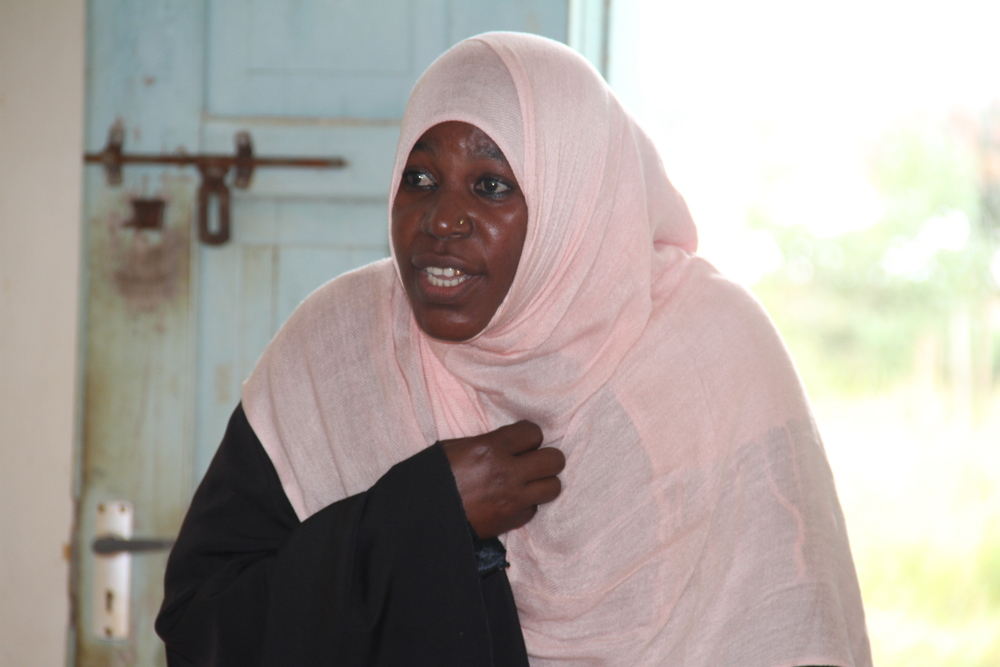 Dada Dialogues participant passionately contributing during the cross-generational session in Kwale.