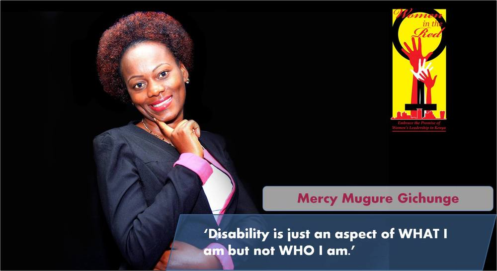 Mercy profiled as a nominee for this years Women in the Red Awards. Photo credits WGLG Kenya.