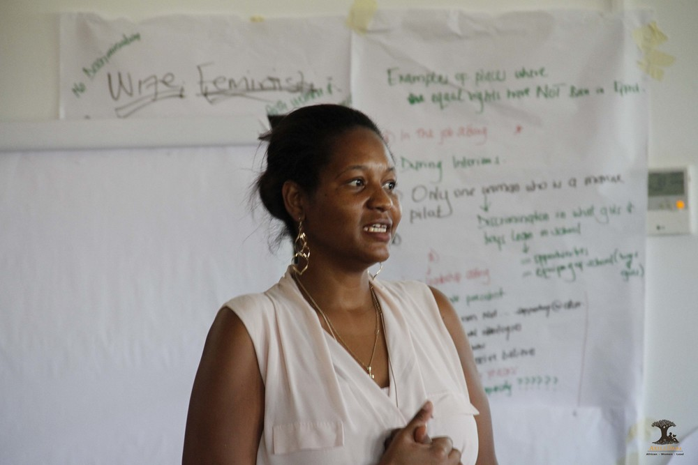 Innovation in Leadership Director Joyce facilitating a session on Sustainable Development Goals.