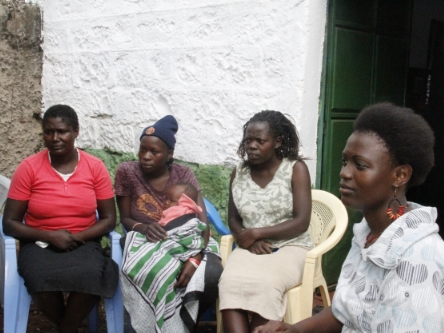Some of the Inua Kike registered young mothers