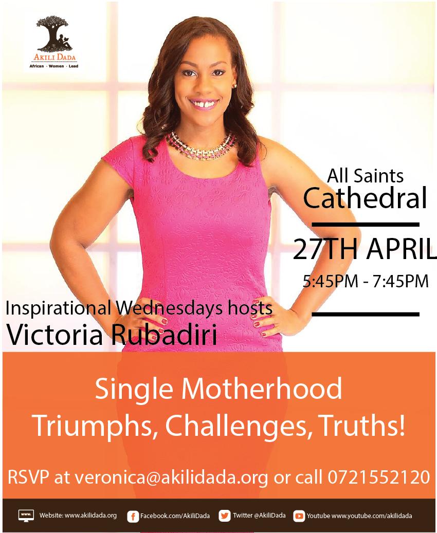 Inspirational Wednesdays hosts Victoria Rubadiri