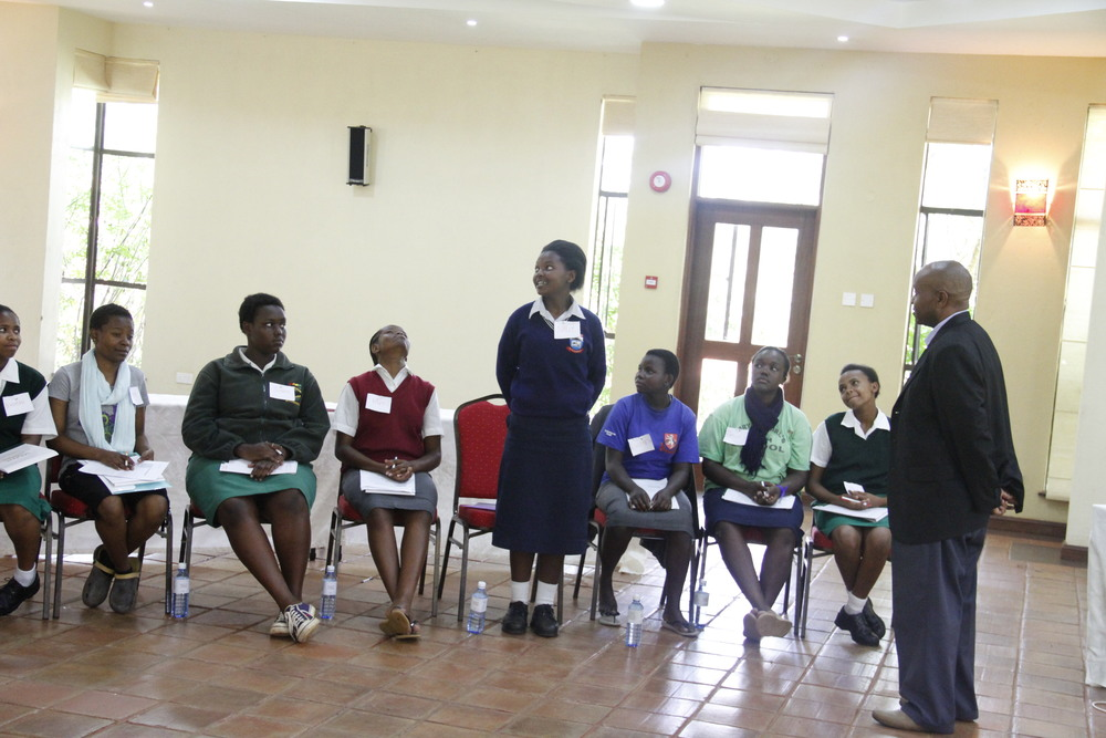 Public Speaking practical session during the April Scholars Leadership Academy with Willis of Toast Masters, Nairobi.