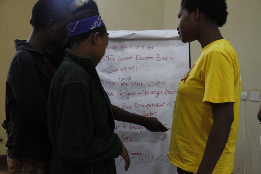 Group discussion during the Scholars Leadership Academy in April