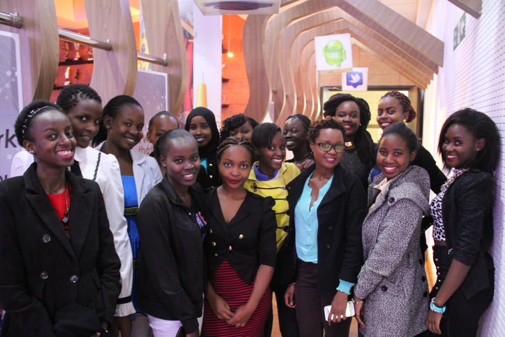 The 2016 Emerging Leaders at an talk by women in technology at Safaricom House