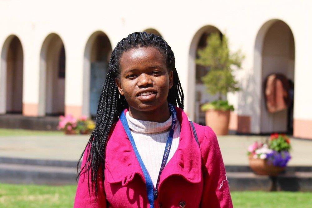 Mary, an Akili Dada scholar at the workshop in Zimbabwe. Photo Credit: YYAS