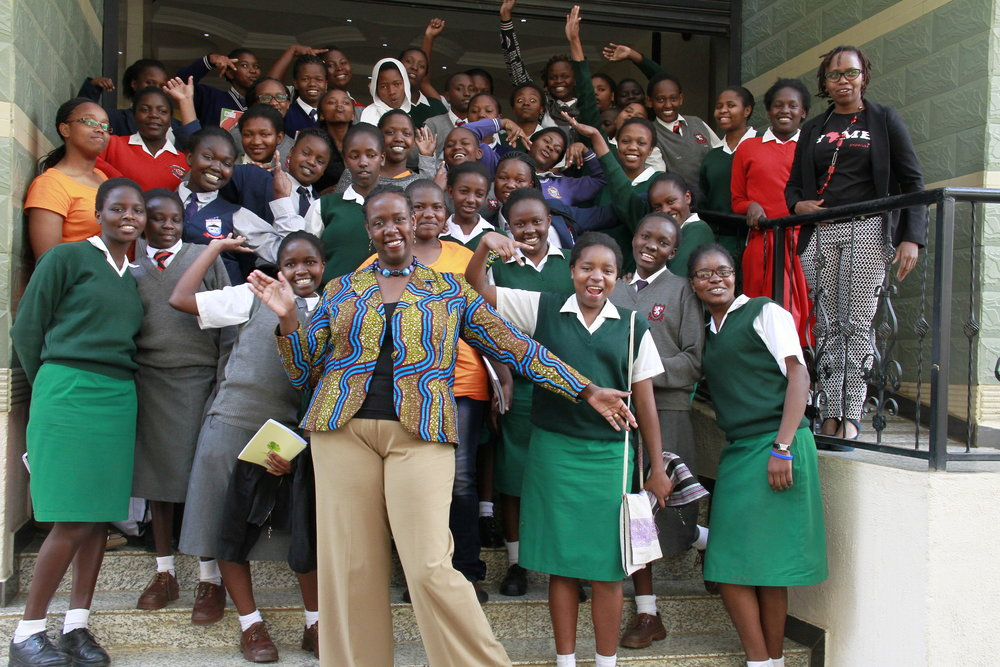 The girls were happy to meet Akili Dada founder, Dr. Wanjiru Kamau-Rutenberg