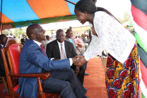 Gertrude meets the Deputy Preseident at a past function. Photo; Courtesy