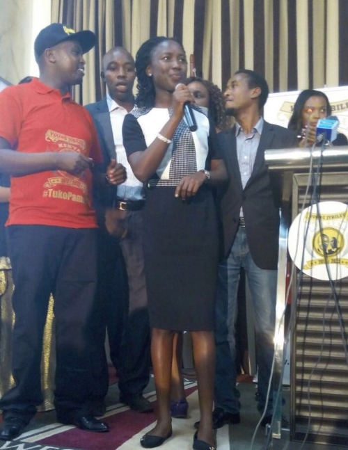 Getrude at the launch of the Young Jubilee Photo; Courtesy