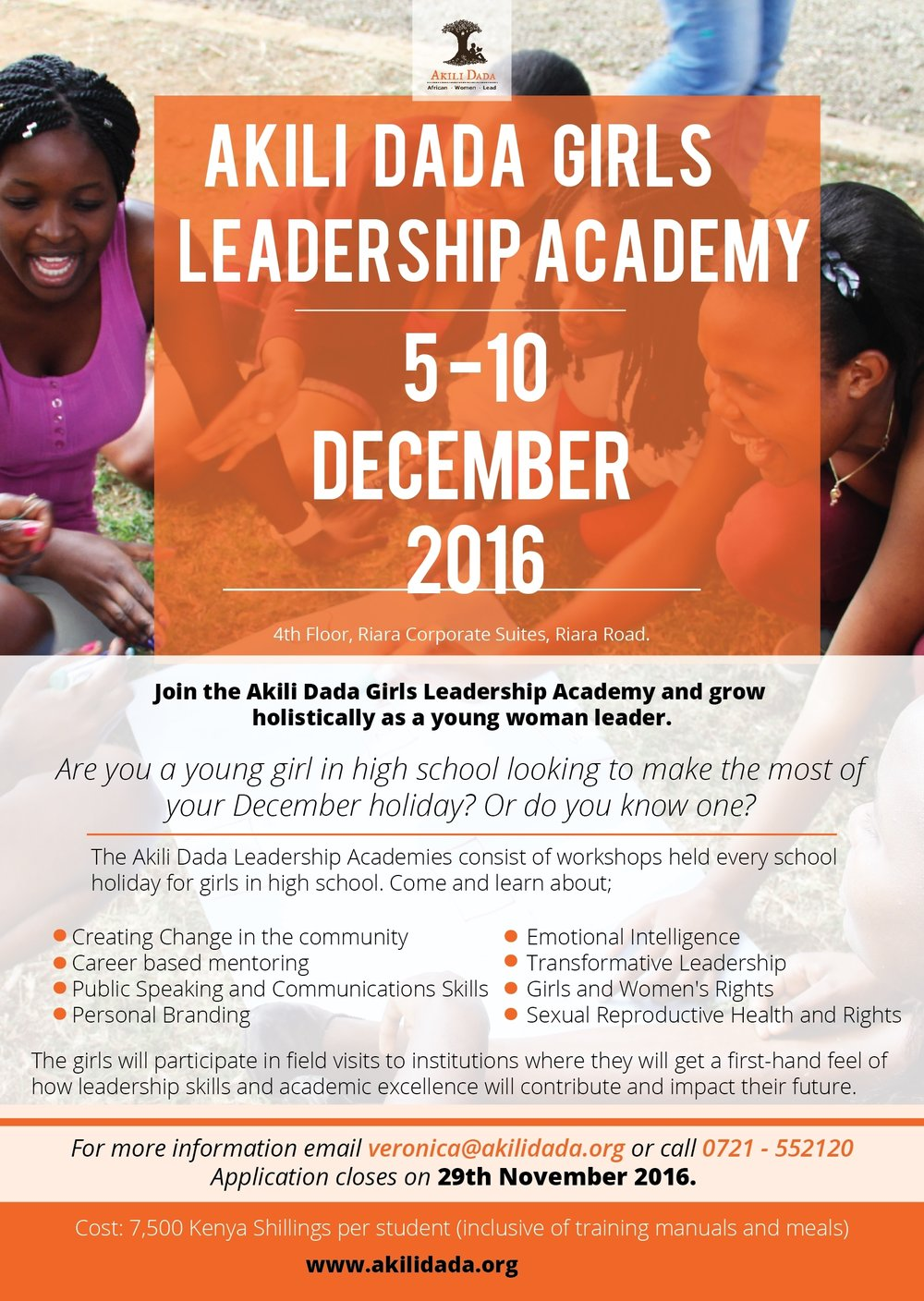 Join the December Holiday Girls Leadership Academy