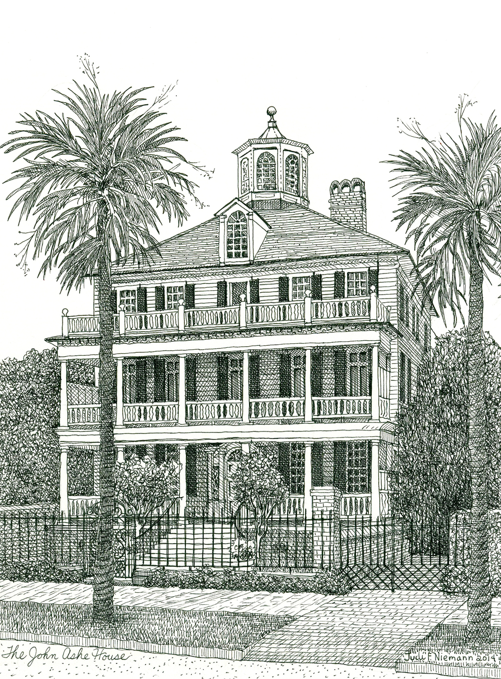 The John Ashe House, Battery row, Charleston, SC