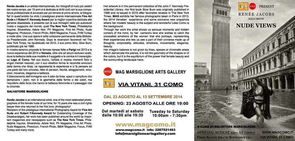 MAG GALLERY EXHIBIT (Lake Como, Italy August 2014)