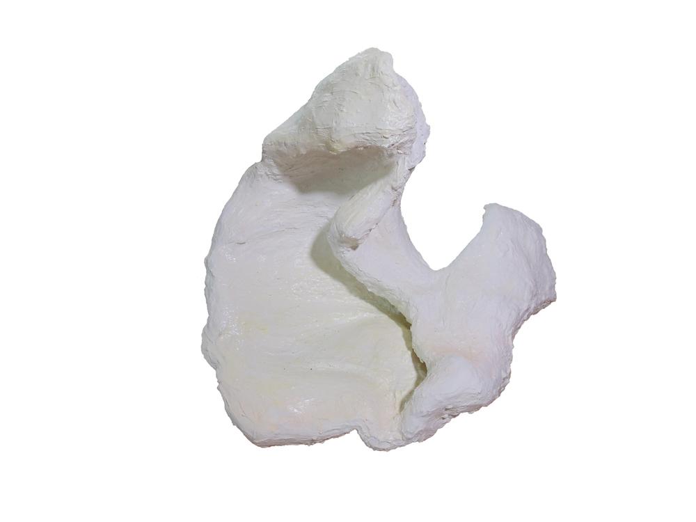 """plaster stranger; plaster, spraypaint; 34""""x 31""""x 3""""; 2014"""