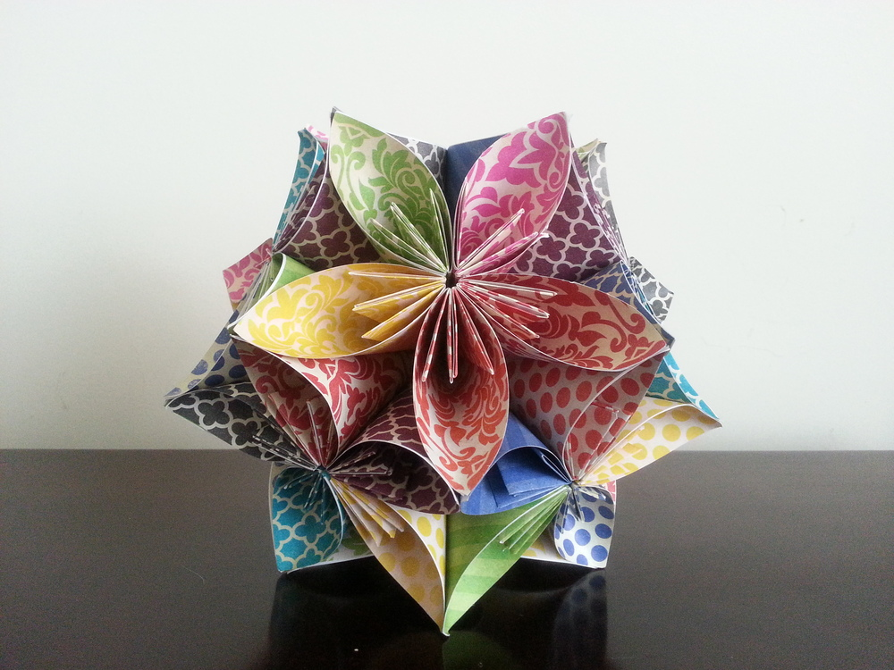 another origami flower ball