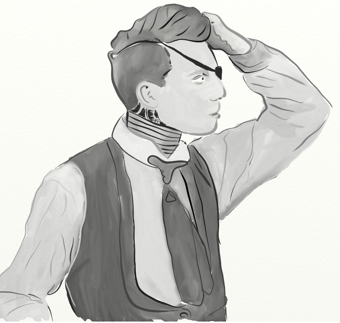 steampunk keaton hand in hair.png