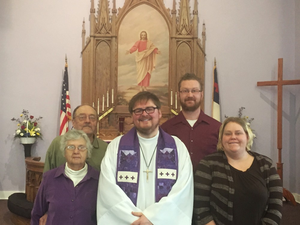 From left to right:  Linda Miles, Buddy Miles, Pastor Ben, Ryan Voss, Jena Schulte                  (not pictured David Syverson)