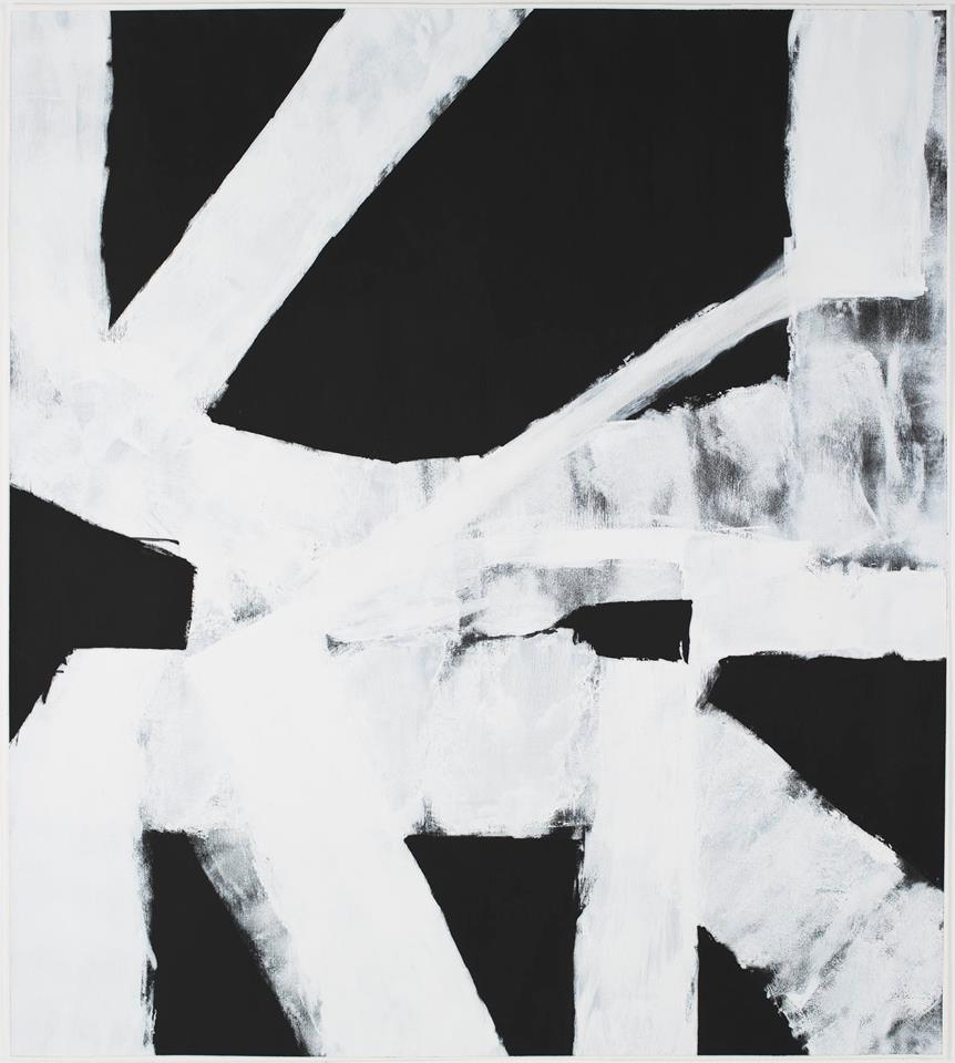 """Rob Mazurek, """"Hollers 2B"""" -2015,45"""" x 50.5""""Acrylic and Graphite on Paper"""
