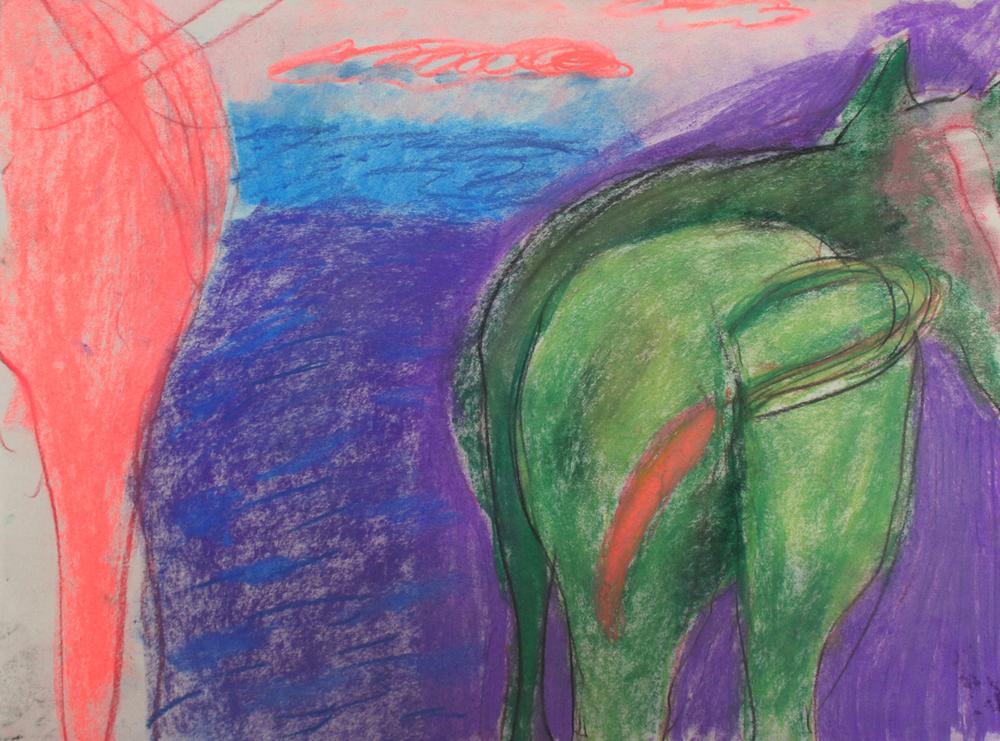 Rachelle Sawatsky,Butts (green),2014