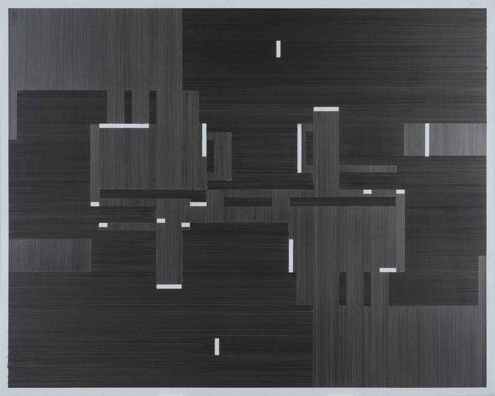 Joseph Huppert,  Untitled II  , 2015,   graphite on mylar,  40 x 60 inches