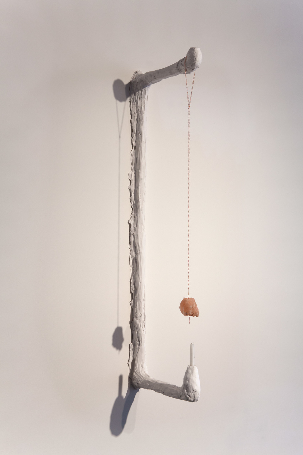 Kathryn O'Halloran,  Rock Salt Scone,  2015, plaster, chain, Himalayan rock salt