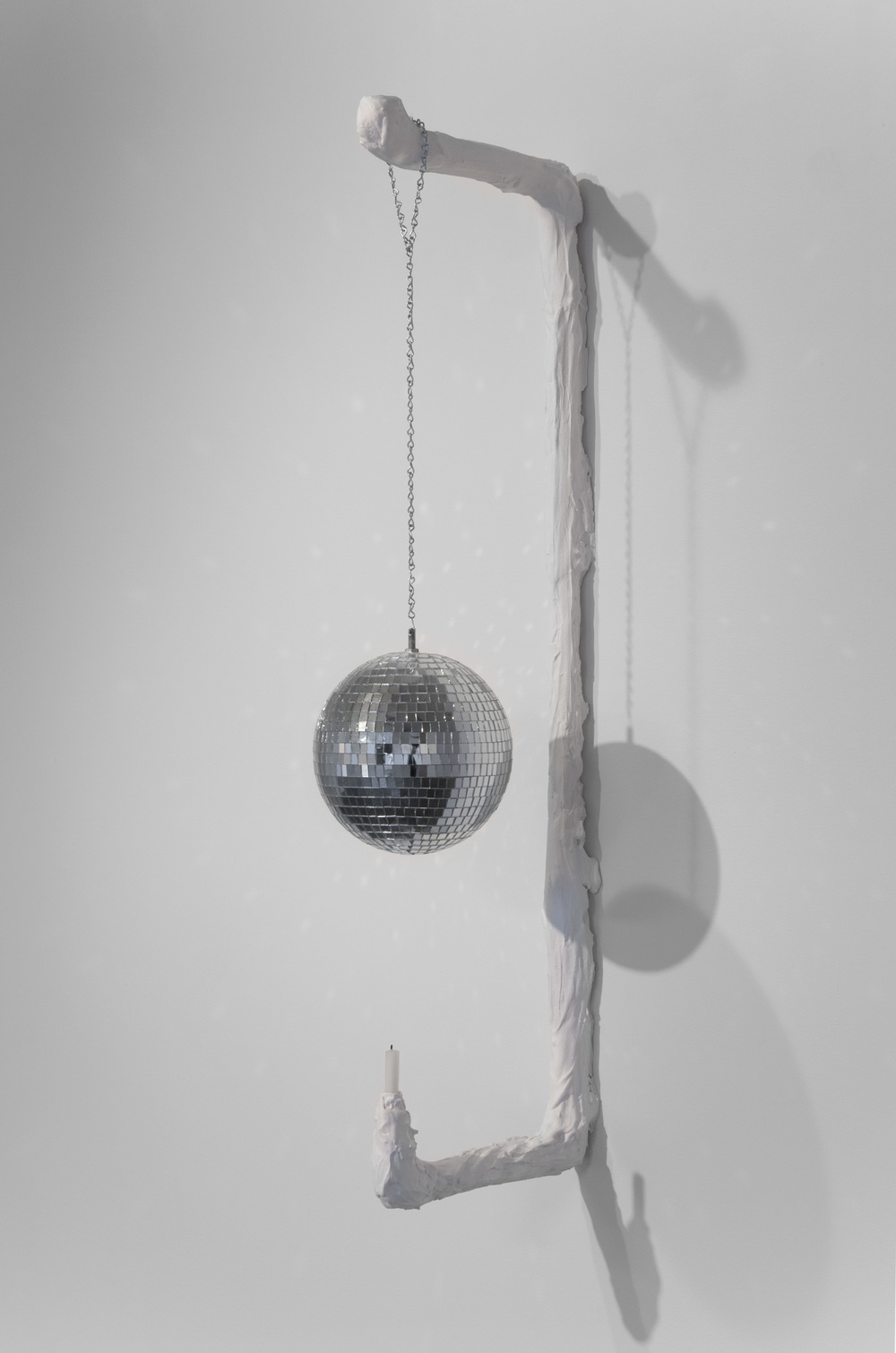 Kathryn O'Halloran,  Dance Scone , 2015, plaster, chain, disco ball